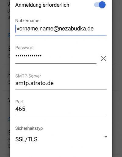strato mail server
