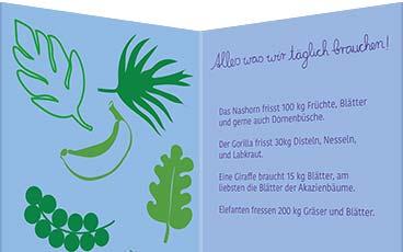 Postkartenreihe: 1. Blätterlust